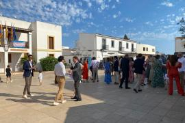 De boda en Formentera... sin mascarilla.