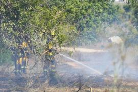 Bomberos e Ibanat sofocan un incendio agrícola en Sant Jordi