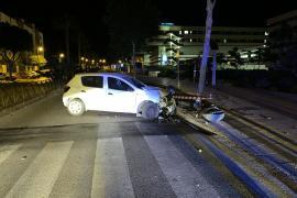 Tres conductores bebidos se estrellan en varios puntos de Vila