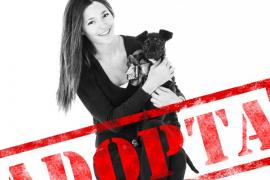 Malena Costa, feliz junto a Mario Suárez, en una campaña en favor de los animales