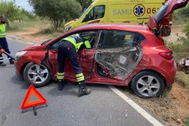 Aparatoso accidente en Sant Carles