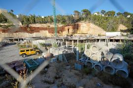 Estado actual en el que se encuentra la construcción de esta promoción de viviendas en Cala Vedella