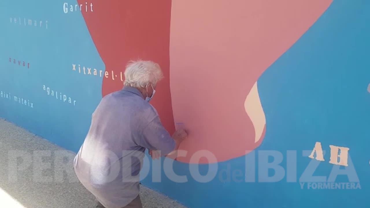 Toni Marí 'Frigoles' ya tiene su mural en el IES Sa Blanca Dona