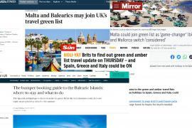 Reino Unido puede considerar 'verde' a Baleares hoy, según los medios británicos