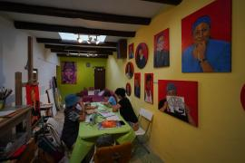 El taller para niños de Aida Miró, en imágenes. (Fotos. Marcelo Sastre)