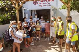 Estudiantes del CEIP Puig d'en Valls y Cáritas, unidos por una buena causa