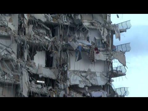 Al menos un muerto y cerca de cien desaparecidos tras el derrumbe de un edificio de apartamentos en Miami