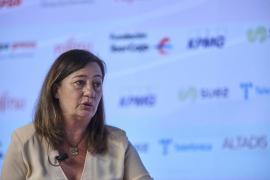 Armengol reclama al Estado que «proteja la buena situación sanitaria de Baleares»