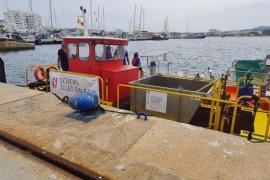 Los puertos de las Pitiusas retiran en seis meses más de 1.200 kilos de residuos