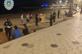 La Policía Local de Ibiza interviene en un botellón e interpone 11 denuncias