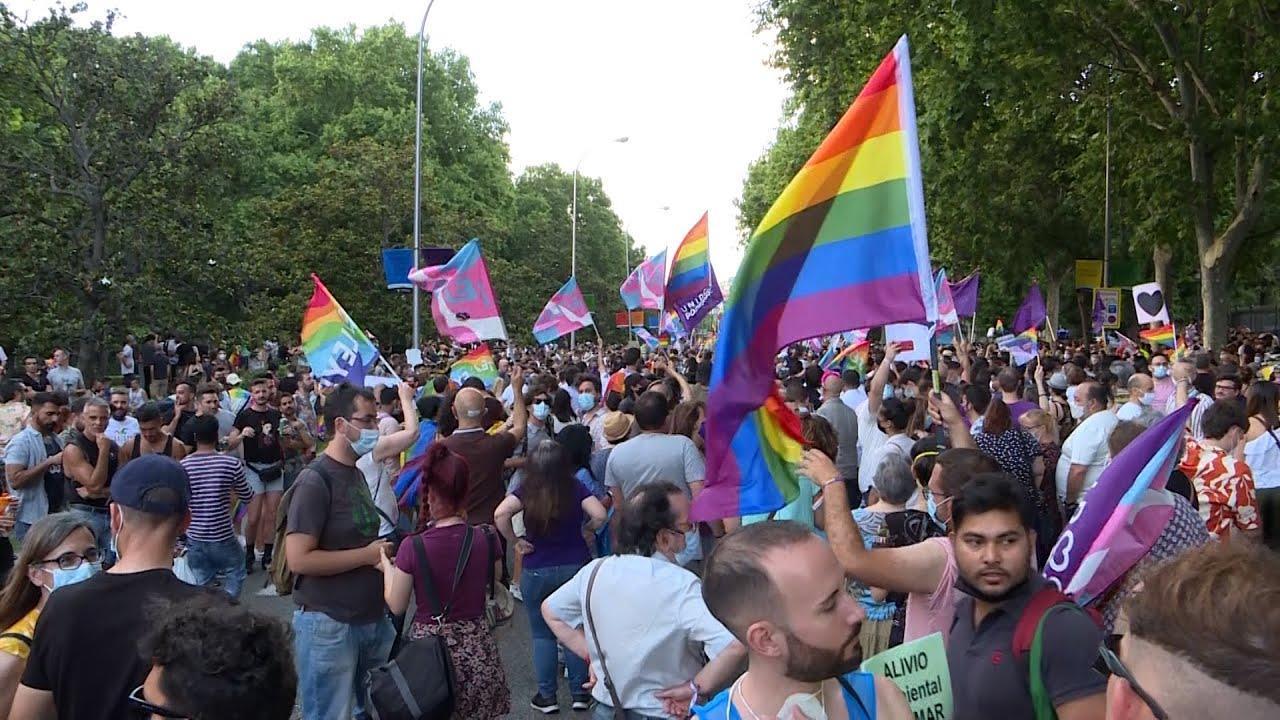 Miles de personas se manifiestan en Madrid por el Orgullo