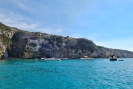 Las barcas de recreo «invaden» el Racó de Sa Pujada de Formentera