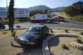 Accidente en una rotonda de Peguera