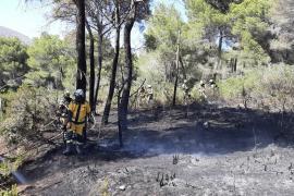 Incendio forestal en Cala Agulla