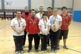 Metal de bronce por equipos para Balears