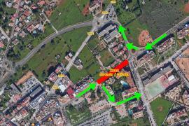 Santa Eulària cierra un tramo de la calle de César Puget por obras