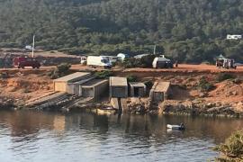 Denuncian el «hacinamiento» de caravanas en la zona de Caló Roig