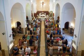 La misa solemne en honor a la Virgen del Carmen en San Salvador de La Marina, en imágenes.