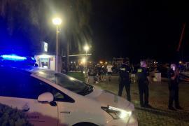 La policía interviene en cuatro peleas multitudinarias en el Paseo Marítimo de Palma