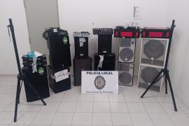 La Policía de Sant Antoni interpone 33 denuncias por fiestas en viviendas en junio y julio