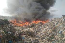 Alarma por un nuevo incendio en Ca Na Putxa