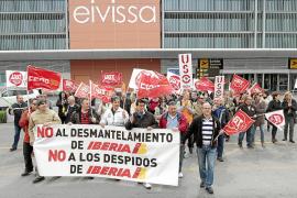 Los trabajadores de Iberia en Eivissa secundan la huelga