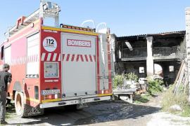 Alerta en Forada por el incendio provocado por el  brasero de una casa abandonada