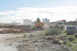 Empiezan las obras para la ejecución del drenaje de la autovía del aeropuerto