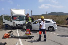Un herido grave en un accidente en el acceso a Platja d'en Bossa