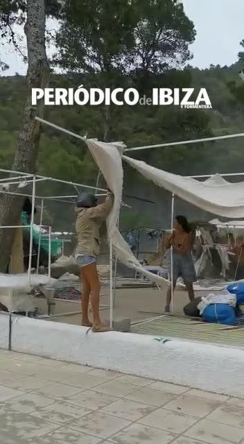 Una tromba de agua descarga más de 50 litros en 20 minutos en Ibiza y Formentera
