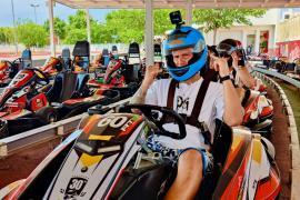 El piloto de Moto GP Fabio Quartararo también demuestra su habilidad con los karts en Ibiza