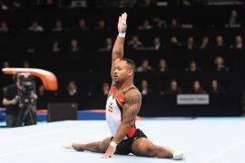 El gimnasta Ray Zapata se lleva la plata en la final de suelo