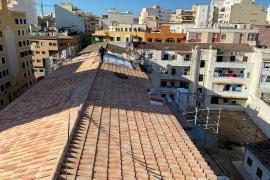 Obras en la cubierta del edificio del Tirador