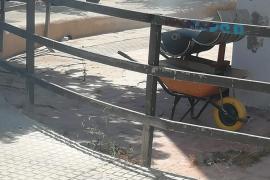 Barbacoa en plena calle de Ibiza