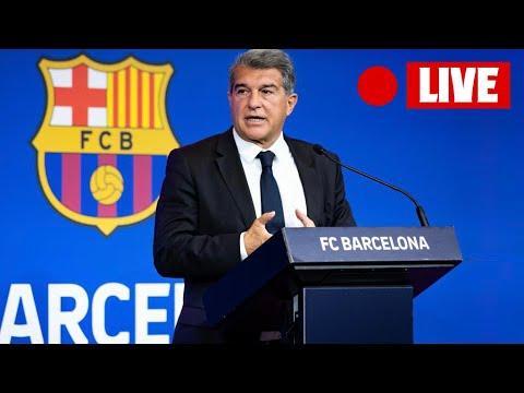 DIRECTO | Joan Laporta comparece tras la salida de Messi del Barça