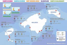 El nuevo mapa de boyas ecológicas del litoral balear