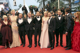Director Baz Luhrmann and cast members arrive on the red carpet for the screening of the film 'The Great Gatsby' at the 66th Can