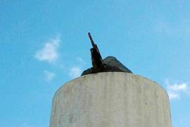 El molino de Puig des Molins ya perdió sus aspas hace cuatro años