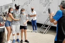 Adam Sandler, de rodaje en Son Moix con astros del baloncesto