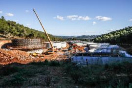 Las obras de la depuradora de sa Coma cortarán un tramo de un camino de Puig d'en Valls