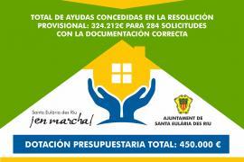 Santa Eulària acepta inicialmente 284 solicitudes de ayuda al alquiler que suman 324.000 euros