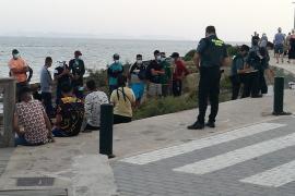 Llega a la Colònia de Sant Jordi en Mallorca una patera con 16 inmigrantes