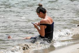 Sant Antoni rozó ayer los 40ºC debido a la ola de calor que azota el país
