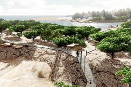 Sant Josep recibirá a finales de mes el anteproyecto con el trazado definitivo del paseo de la bahía