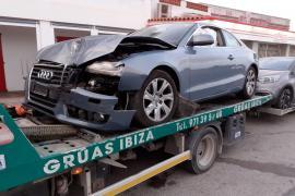 Violento accidente en cadena en la carretera de Sant Josep
