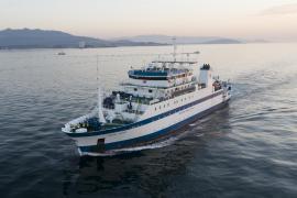 Un buque de investigación estudia las poblaciones de peces en las Pitiusas