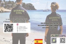 La Guardia Civil actualiza sus recomendaciones a los visitantes de Baleares