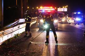 Muere atropellado un hombre cuando intentaba auxiliar a su hija en la vía de cintura de Palma