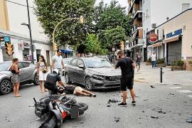 Ingresado en la UCI el motorista arrollado por un coche en Ignasi Wallis