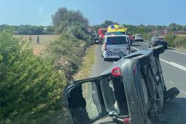 Seis personas heridas, dos de ellas graves, en un accidente de tráfico en Menorca
